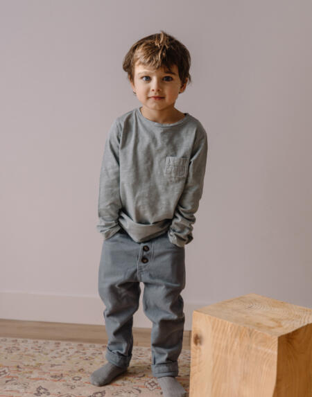 Shirt Kids Pocket Storm Grey von Buho