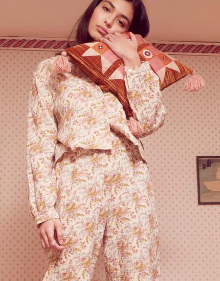 Pijama Louanne Cream French Flowers von Louise Misha