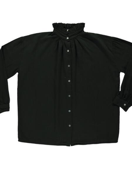 Bluse Rosier Pirate Black von Poudre Organic