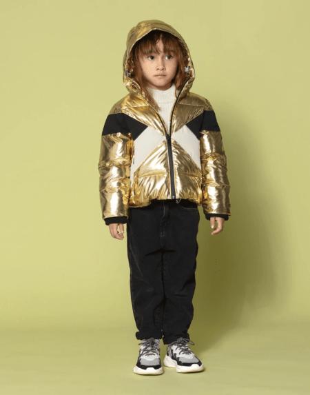 Winterjacke Kids Wild Hogs gold von Go Soaky