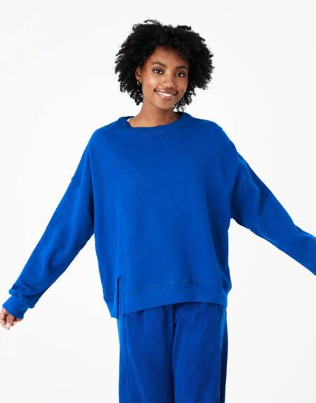 Sweatshirt Sina Hemp Fleece Tide von Backbeat