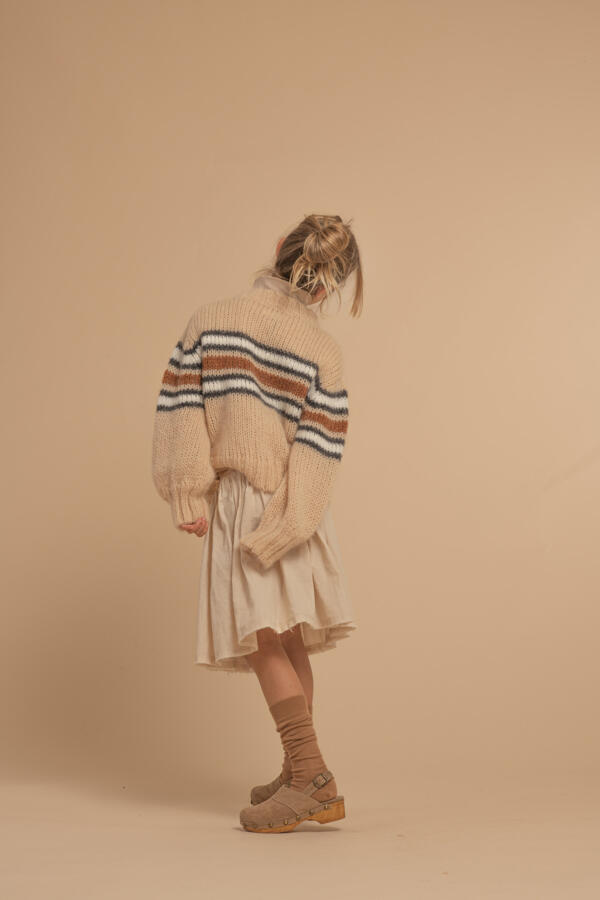 Wollpullover Kids Natural Stripe von Longlivethequeen