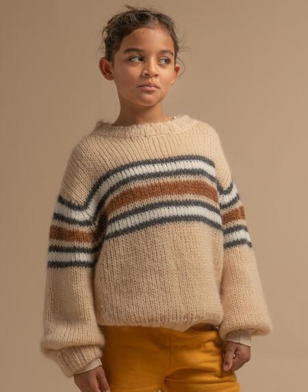 Wollpullover Kids Natural Stripe