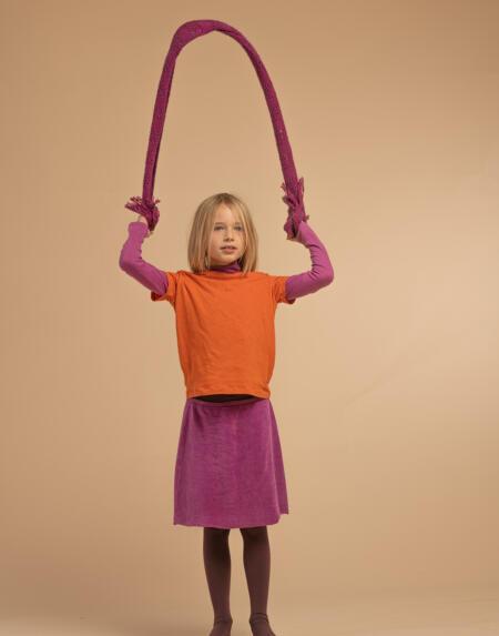 Jupe Kids Samt Purple von Longlivethequeen