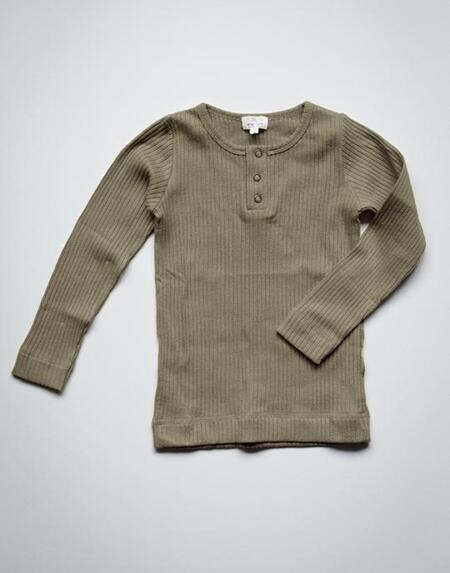 Ribbed Shirt Kids Sage von The Simple Folk