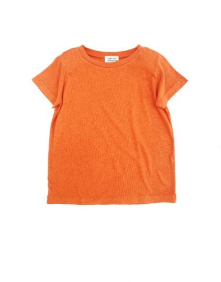 T-Shirt Kids Kurzarm Apricot von Longlivethequeen